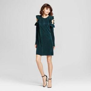 Mossimo Green Cold Shoulder Shift Dress XL NWT